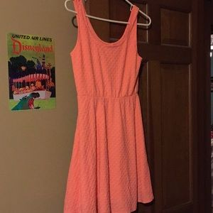 Peach sleeveless summer dress